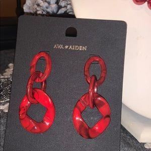 RED SWIRL AVA & AIDEN EARRINGS